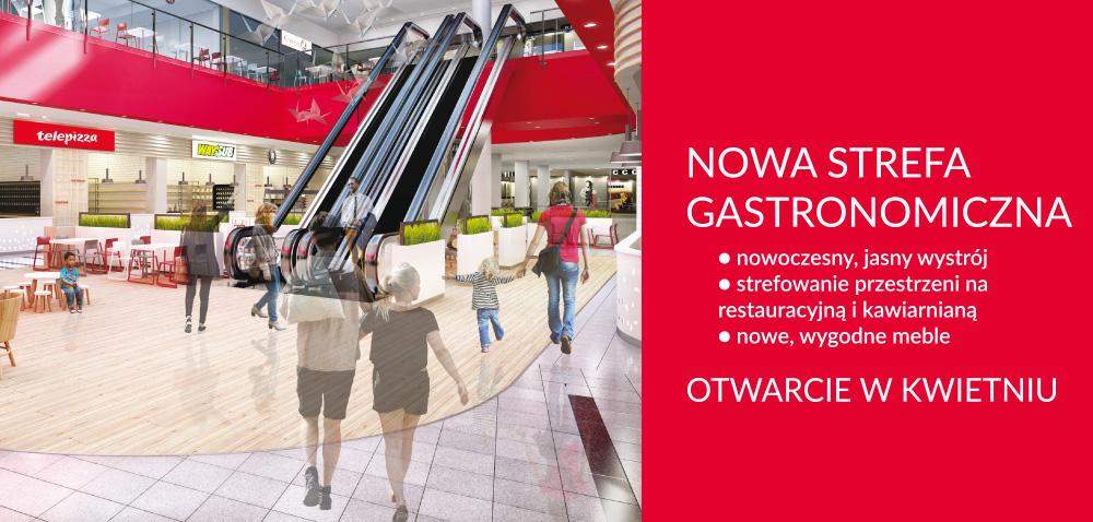 Nowa strefa gastronomiczna w Galerii Sandecja